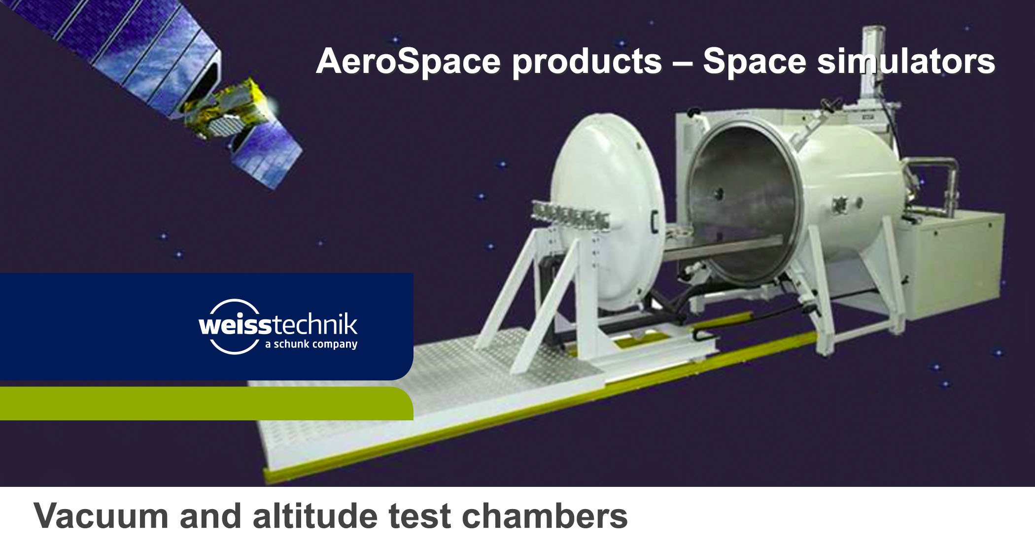 Vacuum altitude test chambers, space simulators3, weiss