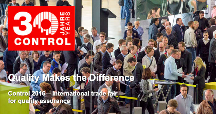 Control 2016, 30th Control international trade fair for quality assurance