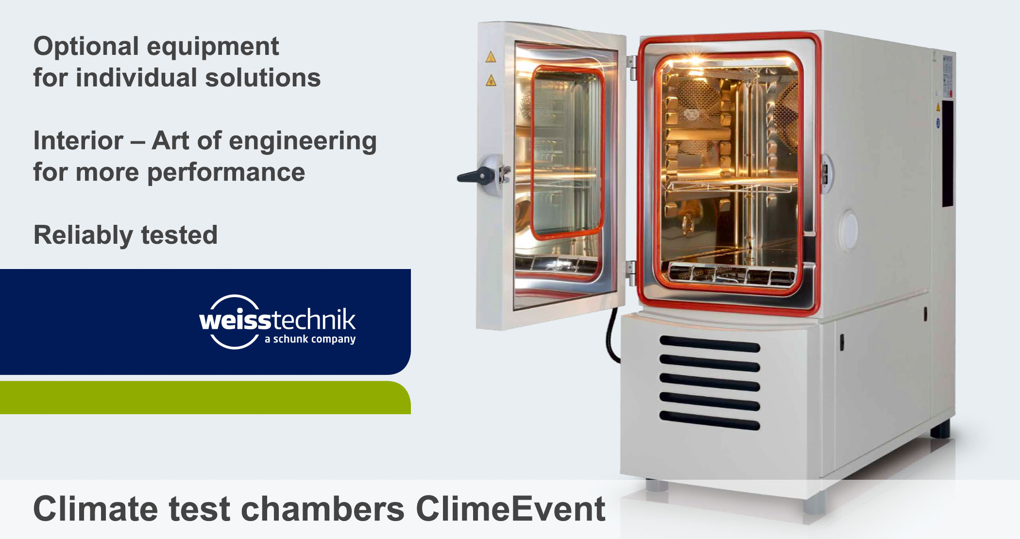 Climate test chambers ClimeEvent_Optional equipment, Weiss